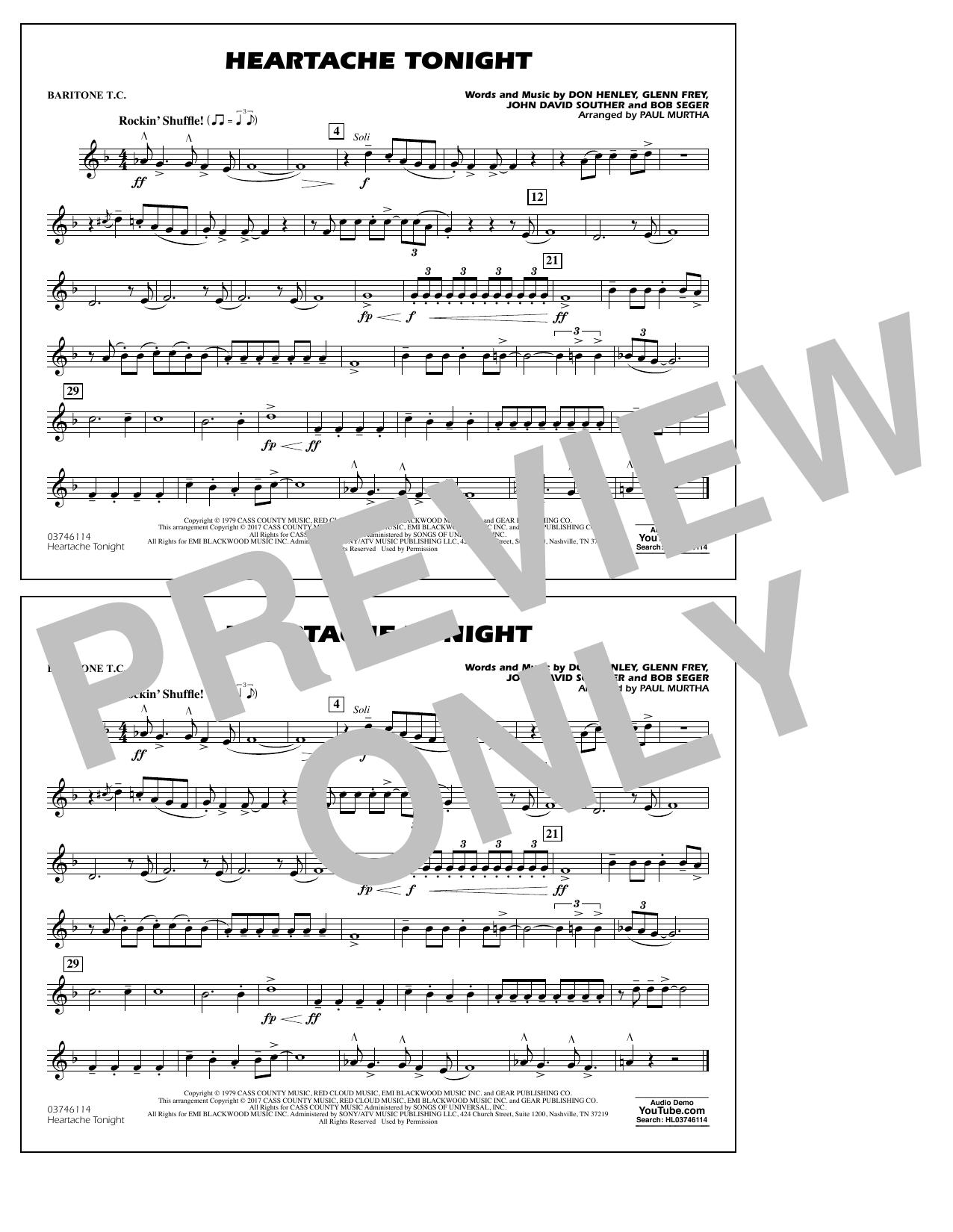 Heartache Tonight - Baritone T.C. Sheet Music