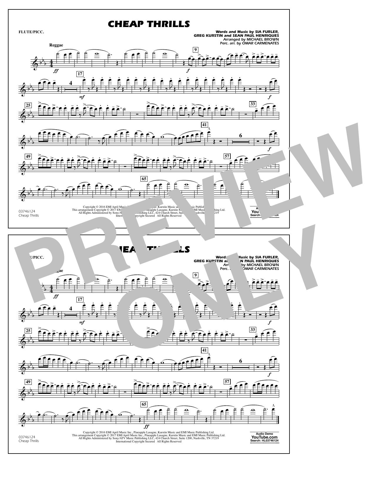 Cheap Thrills - Flute/Piccolo Sheet Music