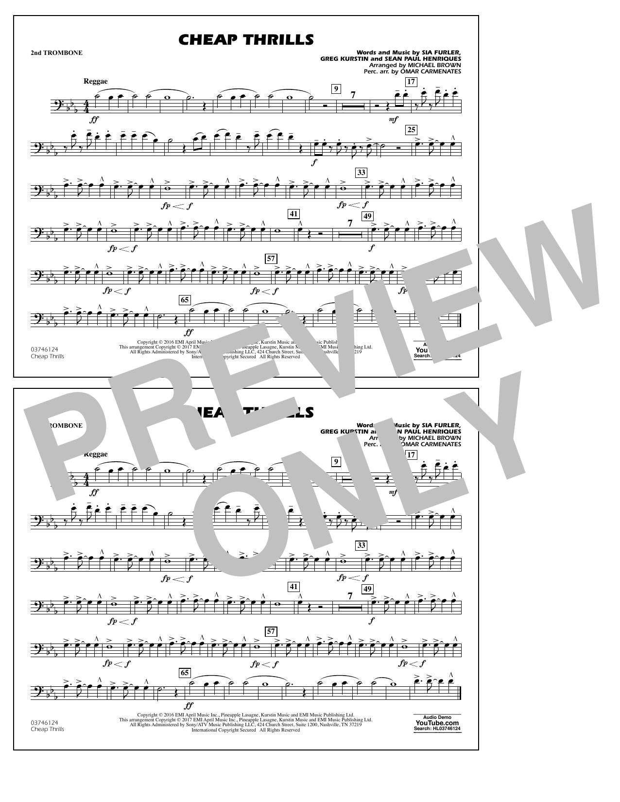 Cheap Thrills - 2nd Trombone Sheet Music