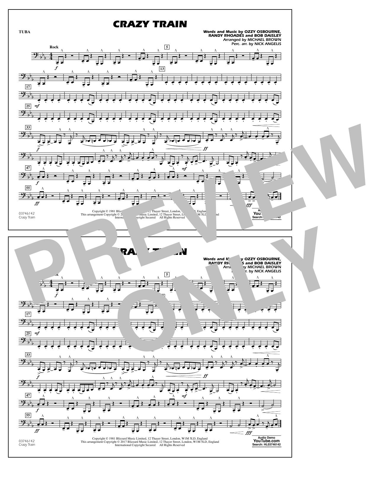 Crazy Train - Tuba Sheet Music
