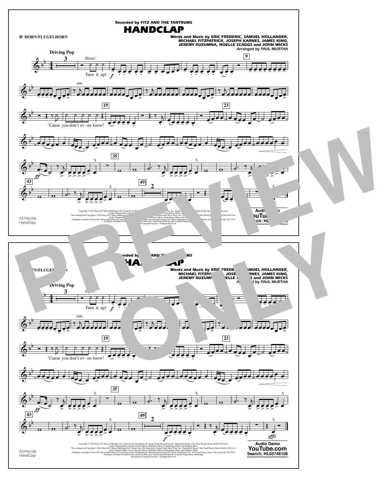 HandClap - Bb Horn/Flugelhorn Sheet Music