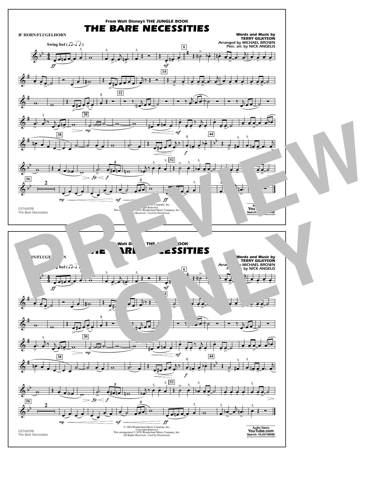 The Bare Necessities (from The Jungle Book) - Bb Horn/Flugelhorn Sheet Music