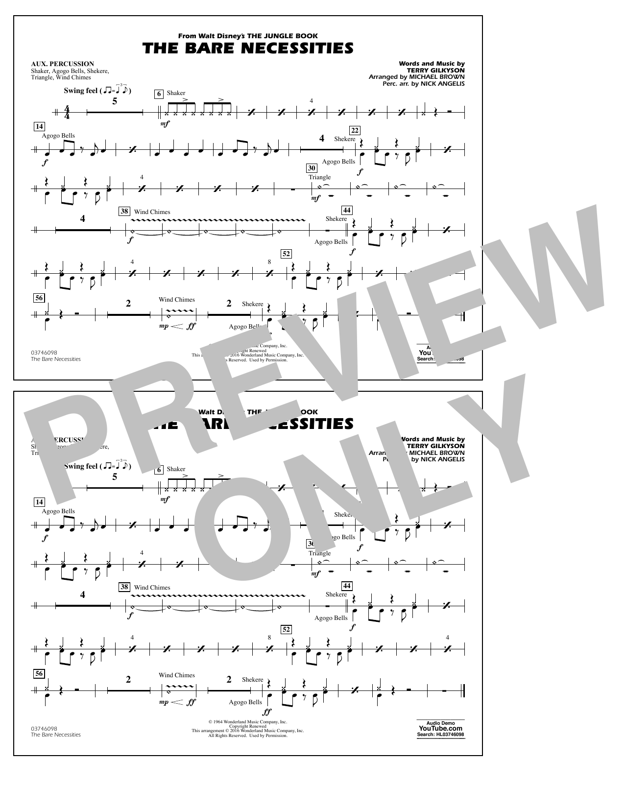 The Bare Necessities (from The Jungle Book) - Aux Percussion Digitale Noten