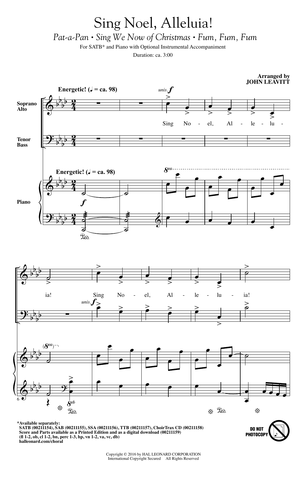 Sing Noel, Alleluia! (SATB Choir)