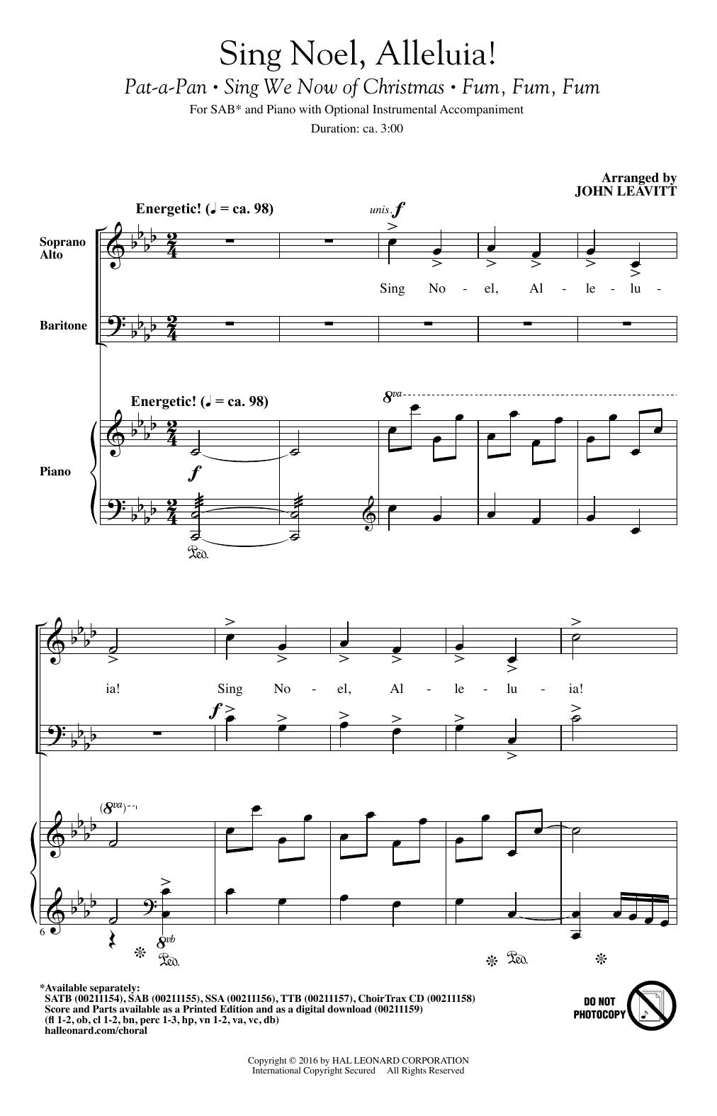 Sing Noel, Alleluia! (SAB Choir)