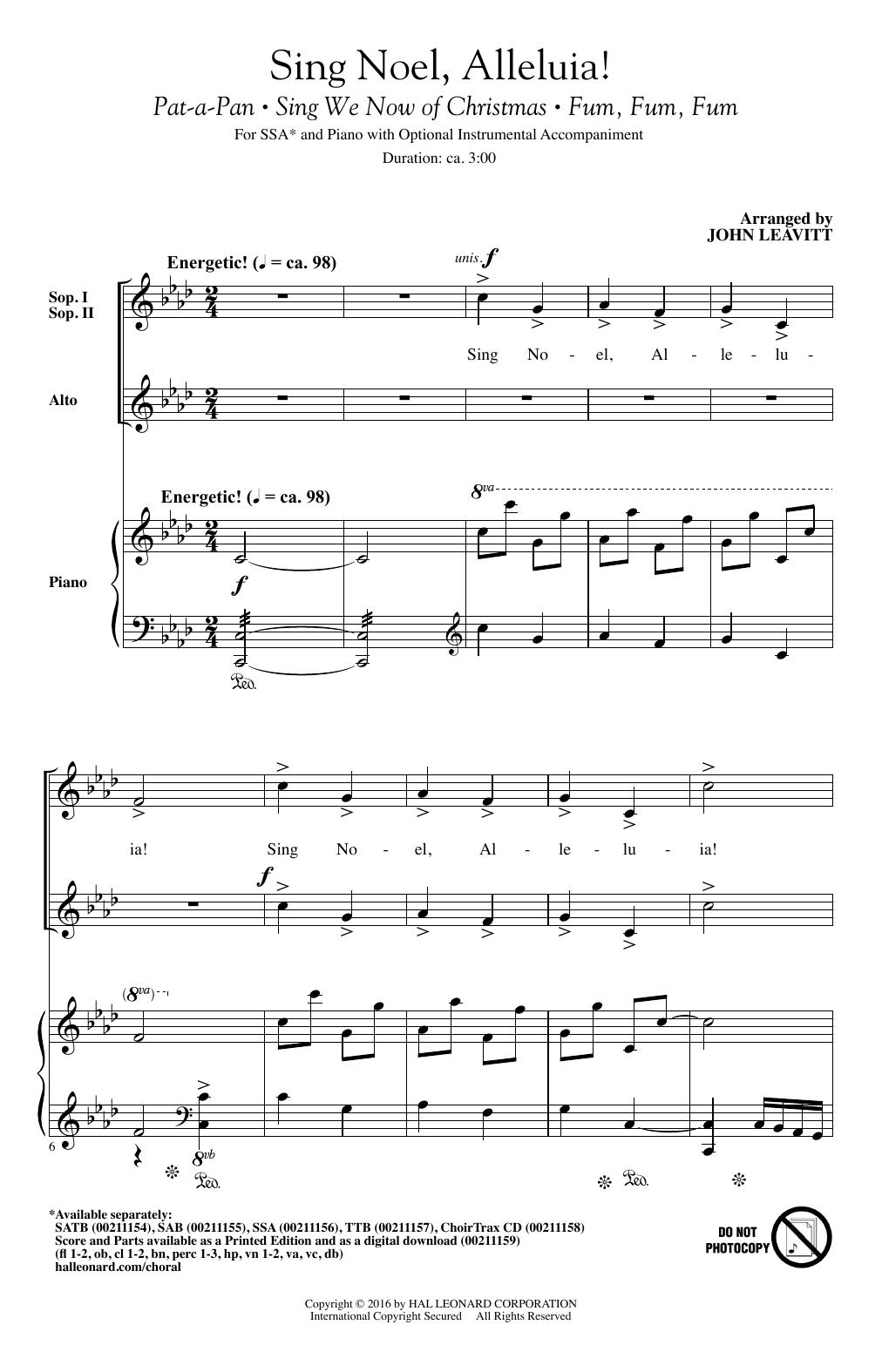 Sing Noel, Alleluia! (SSA Choir)
