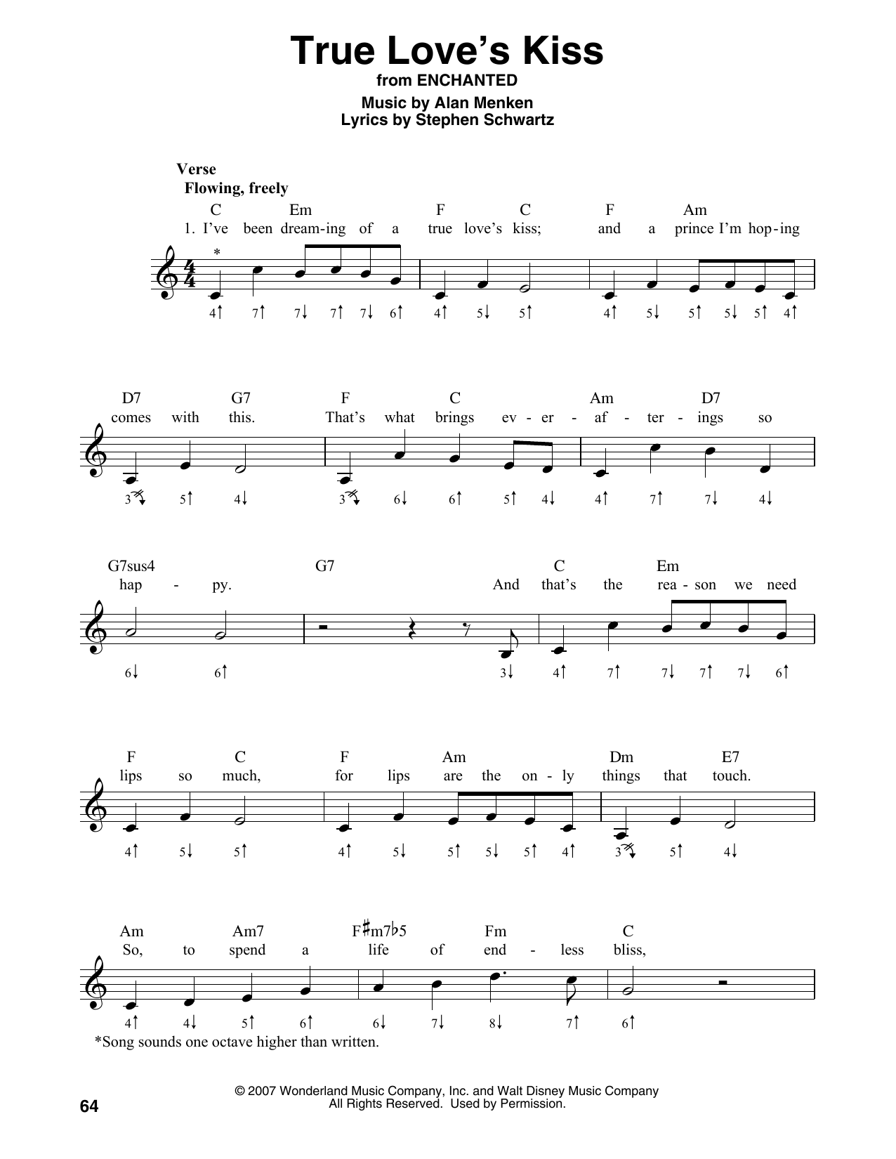 True Love's Kiss Sheet Music