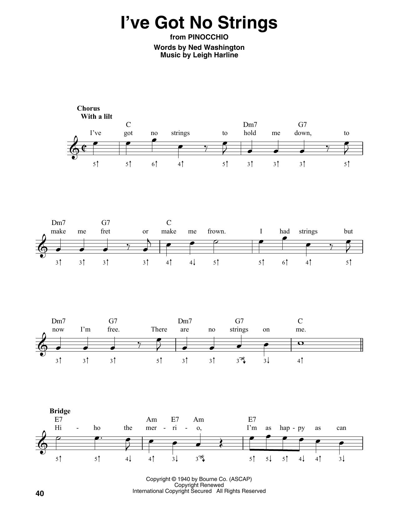 I've Got No Strings Sheet Music