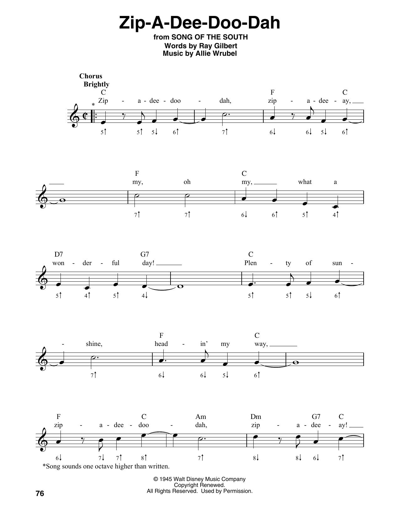 Zip-A-Dee-Doo-Dah (Harmonica)