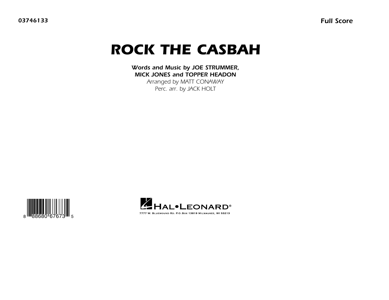 Rock the Casbah (COMPLETE) sheet music for marching band by The Clash, Matt Conaway and Mick Jones. Score Image Preview.