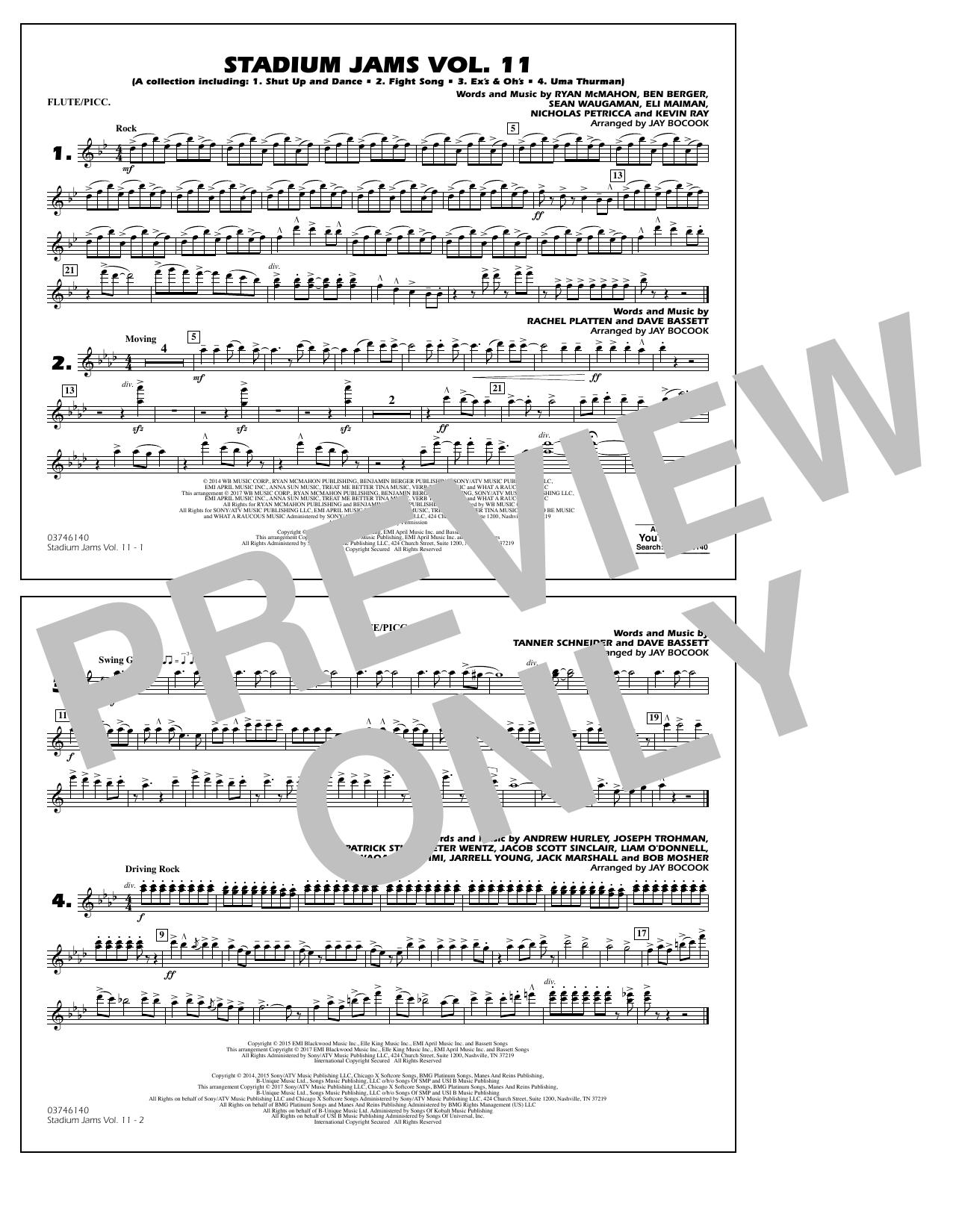 Stadium Jams Volume 11 - Flute/Piccolo Partition Digitale