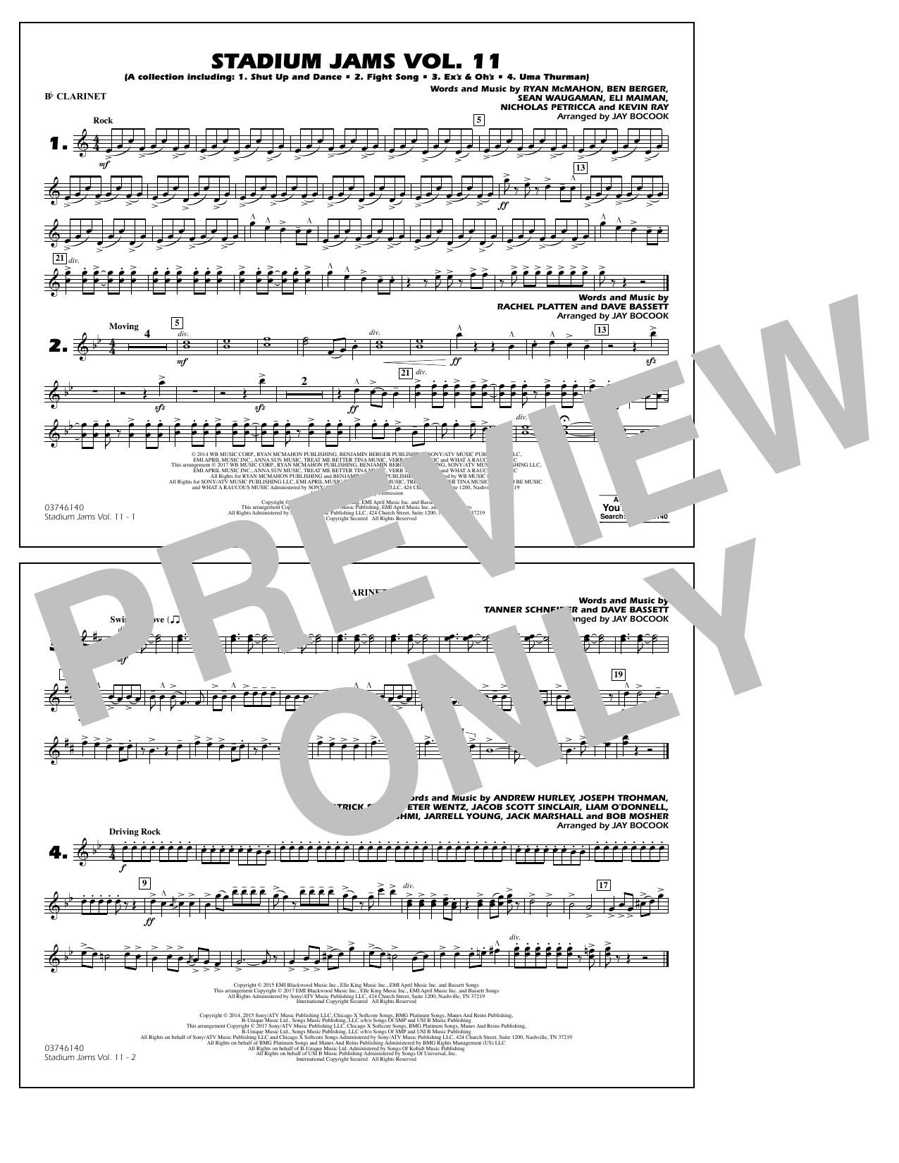 Stadium Jams Volume 11 - Bb Clarinet Sheet Music