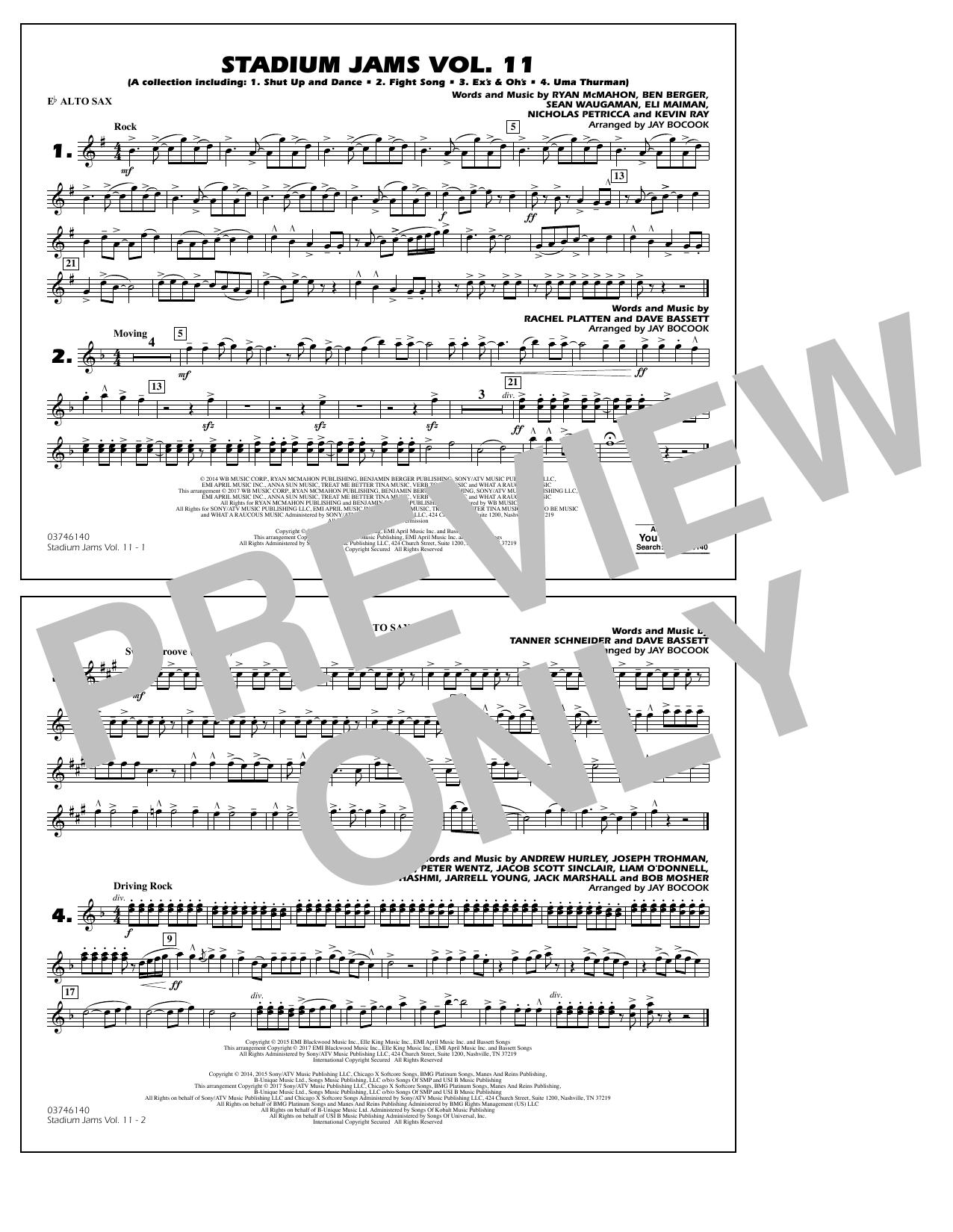 Stadium Jams Volume 11 - Eb Alto Sax Partituras Digitales
