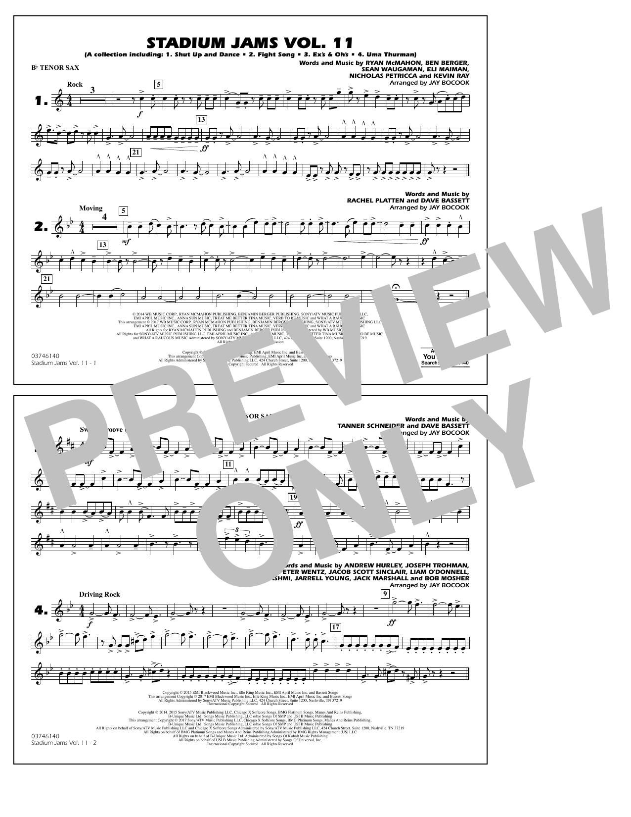 Stadium Jams Volume 11 - Bb Tenor Sax Sheet Music
