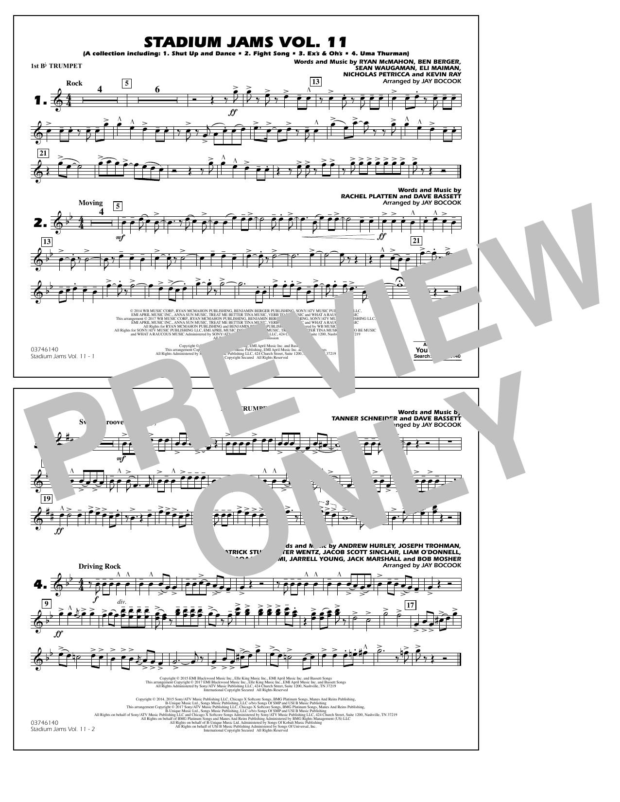 Stadium Jams Volume 11 - 1st Bb Trumpet Sheet Music