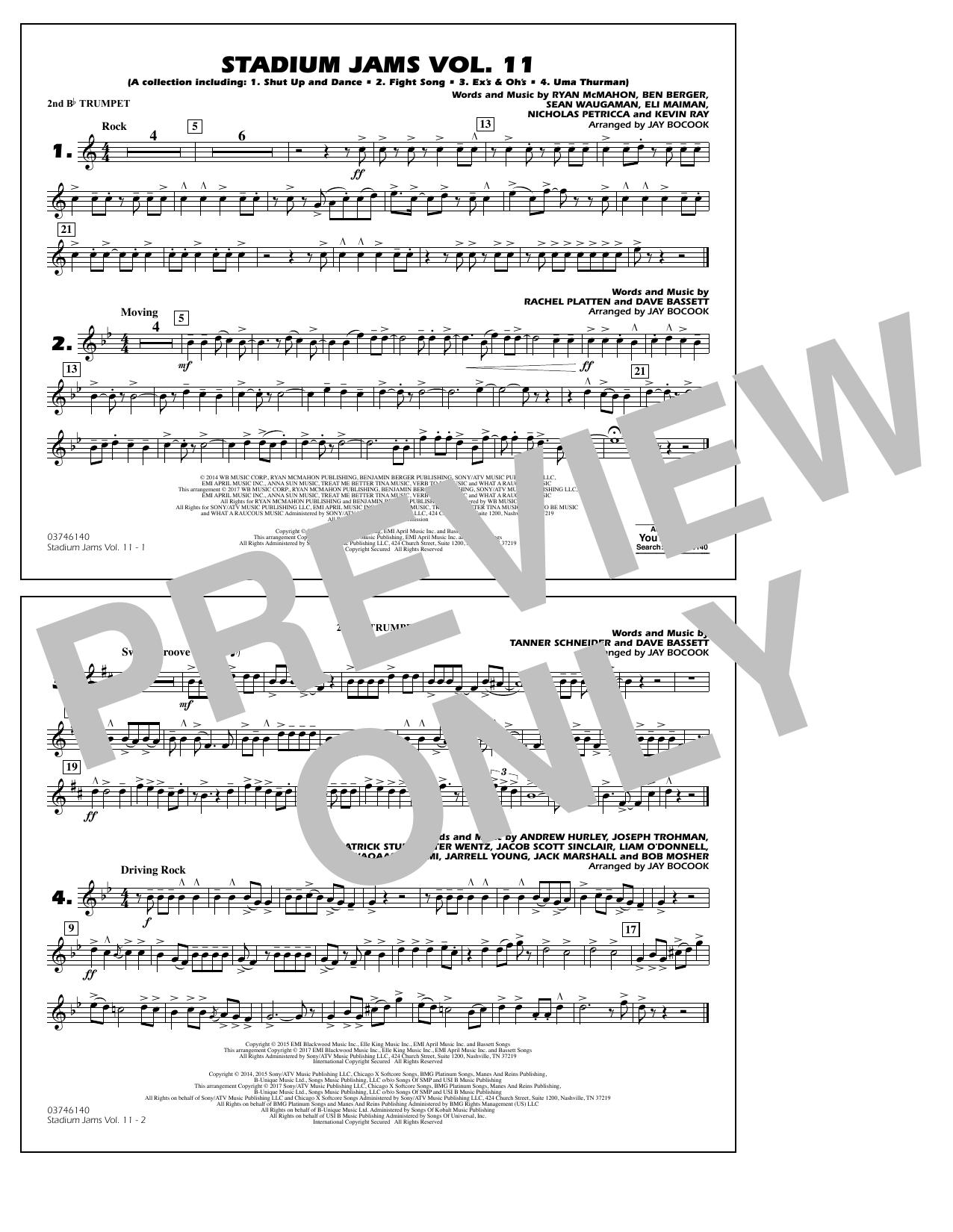 Stadium Jams Volume 11 - 2nd Bb Trumpet Sheet Music