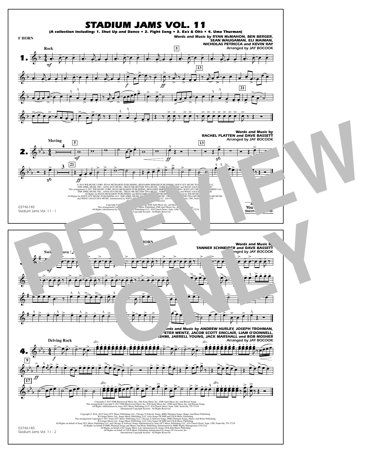 Stadium Jams Volume 11 - F Horn Sheet Music
