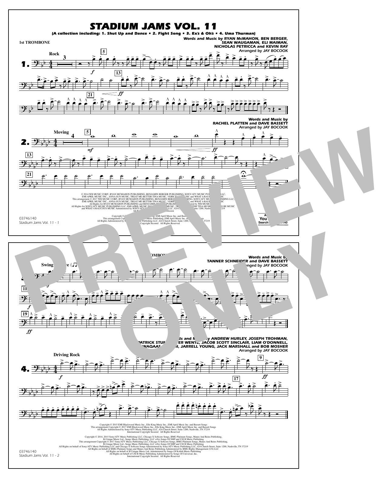 Stadium Jams Volume 11 - 1st Trombone Sheet Music