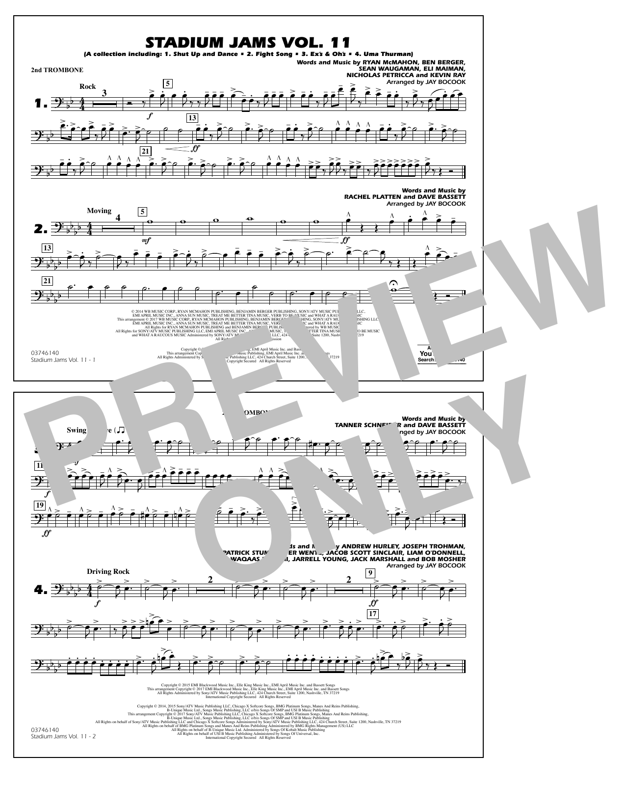 Stadium Jams Volume 11 - 2nd Trombone Sheet Music