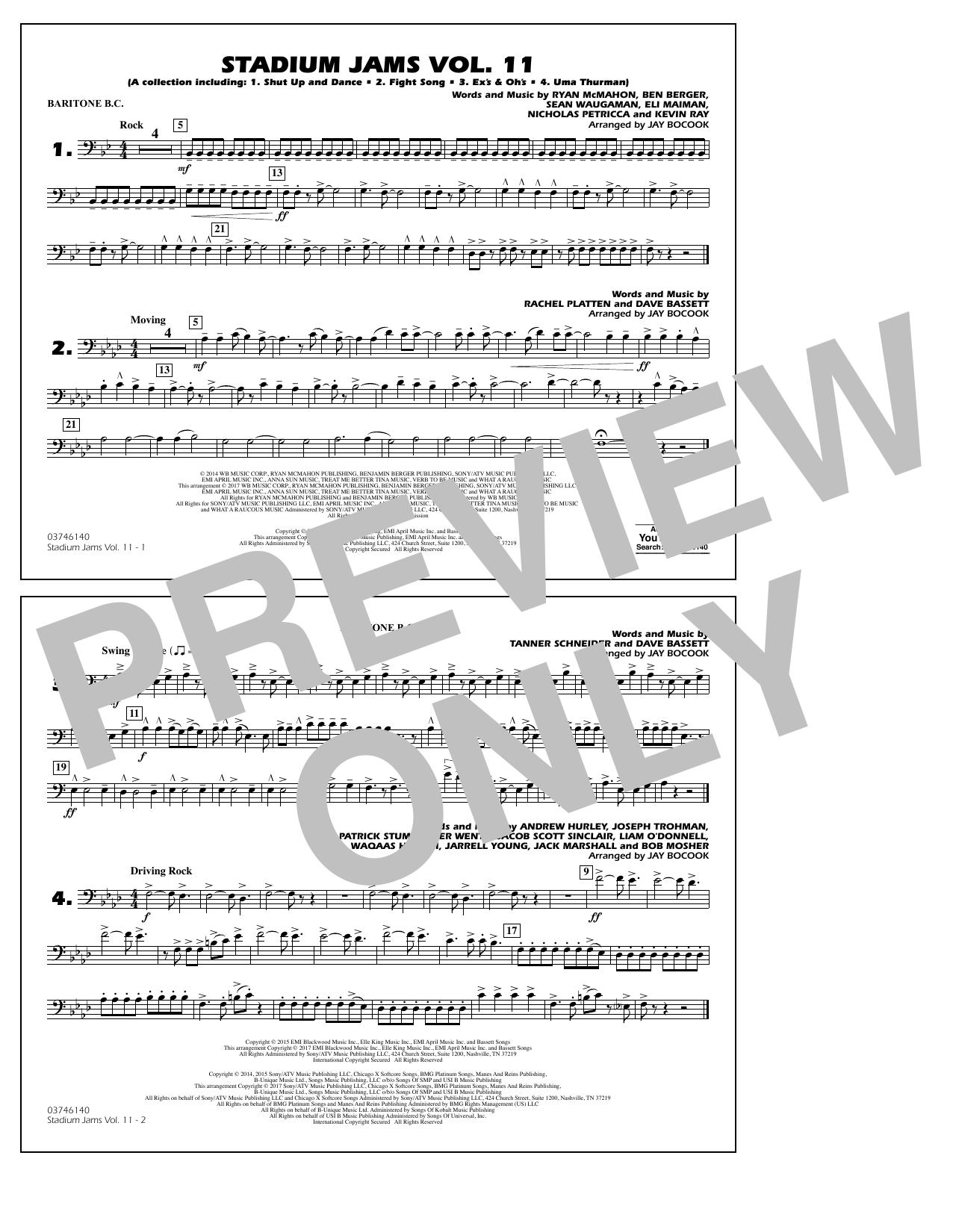 Stadium Jams Volume 11 - Baritone B.C. Partituras Digitales