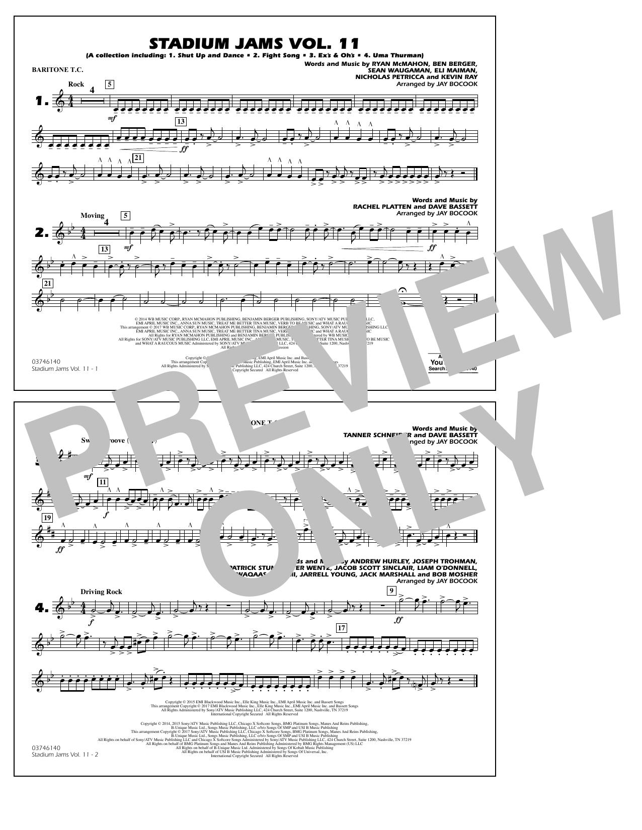 Stadium Jams Volume 11 - Baritone T.C. Sheet Music