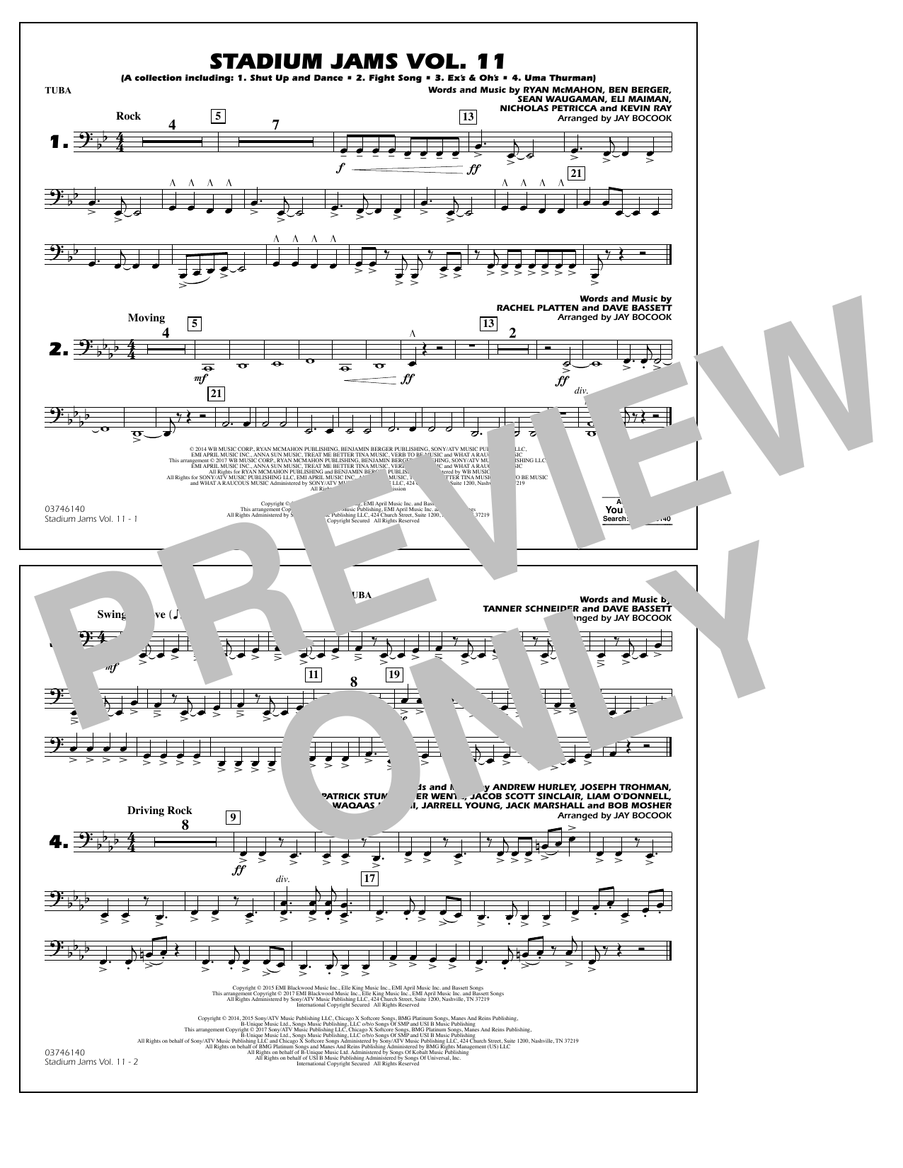 Stadium Jams Volume 11 - Tuba Sheet Music