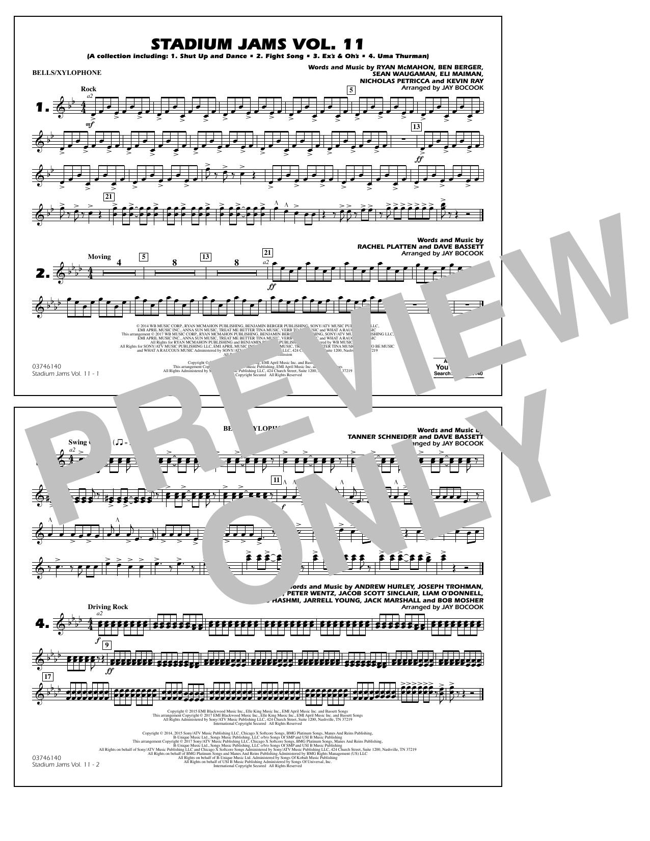 Stadium Jams Volume 11 - Bells/Xylophone Sheet Music