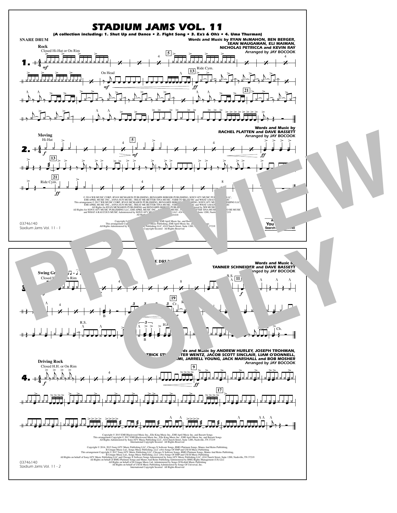 Stadium Jams Volume 11 - Snare Drum Sheet Music