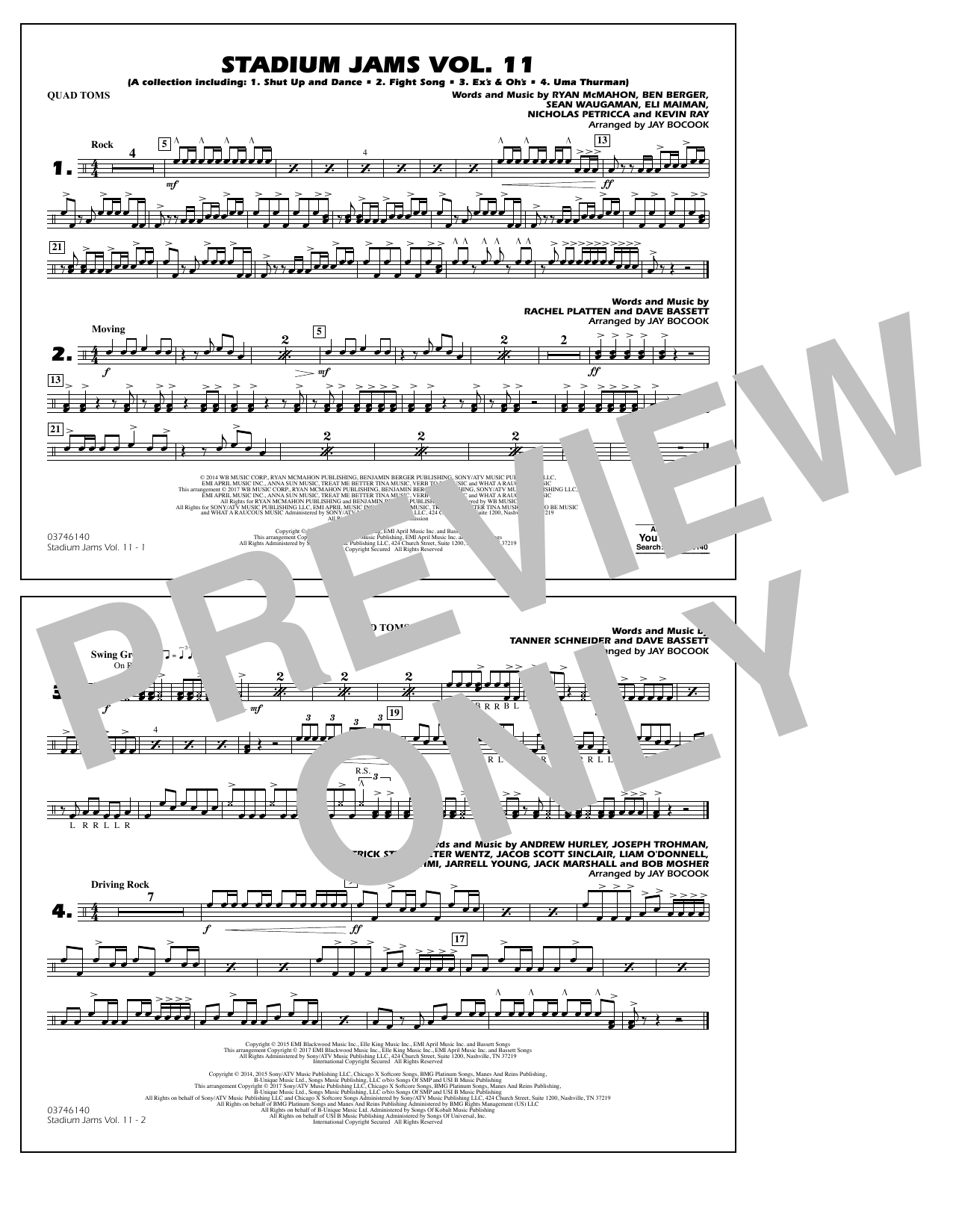 Stadium Jams Volume 11 - Quad Toms Sheet Music