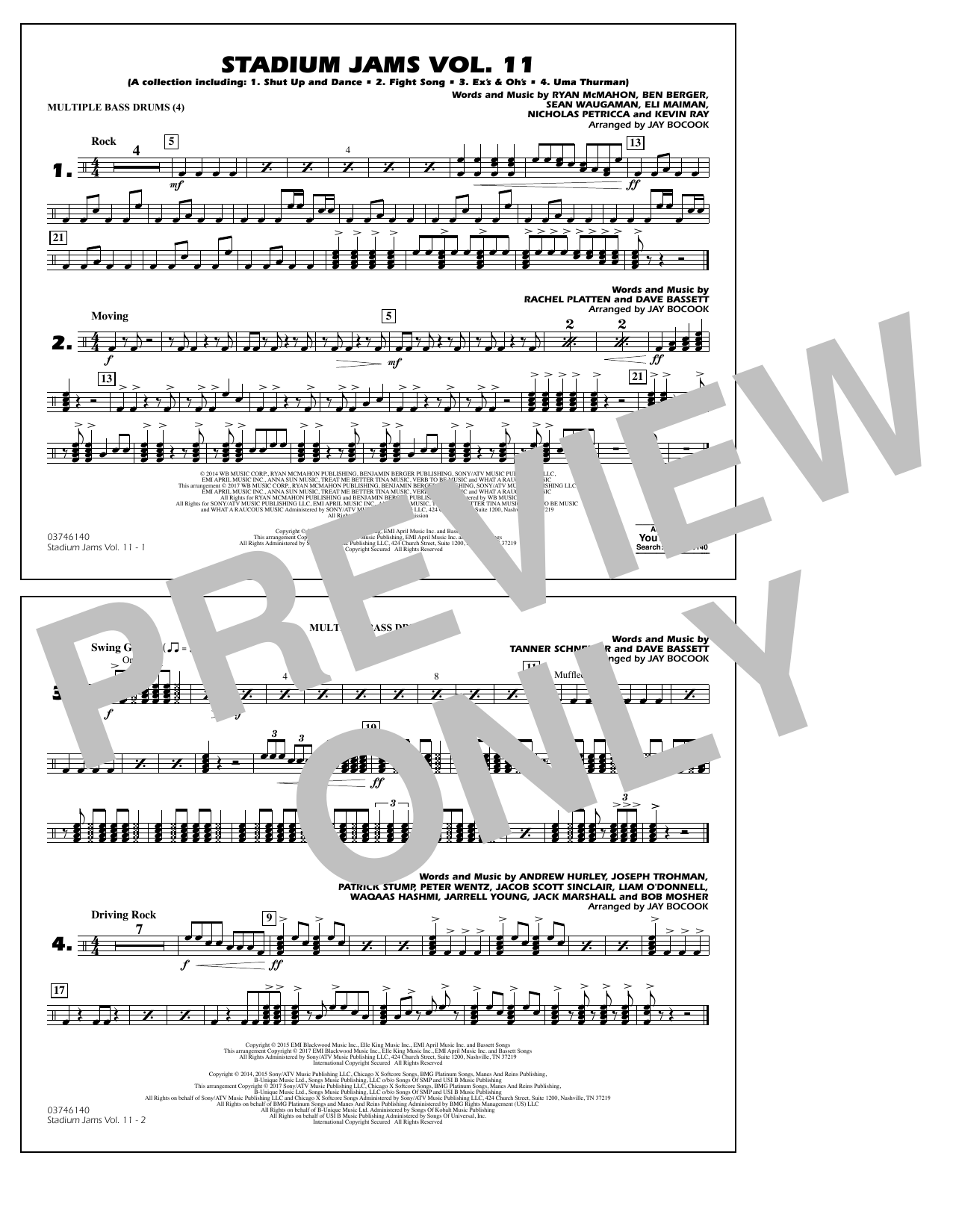 Stadium Jams Volume 11 - Multiple Bass Drums Sheet Music