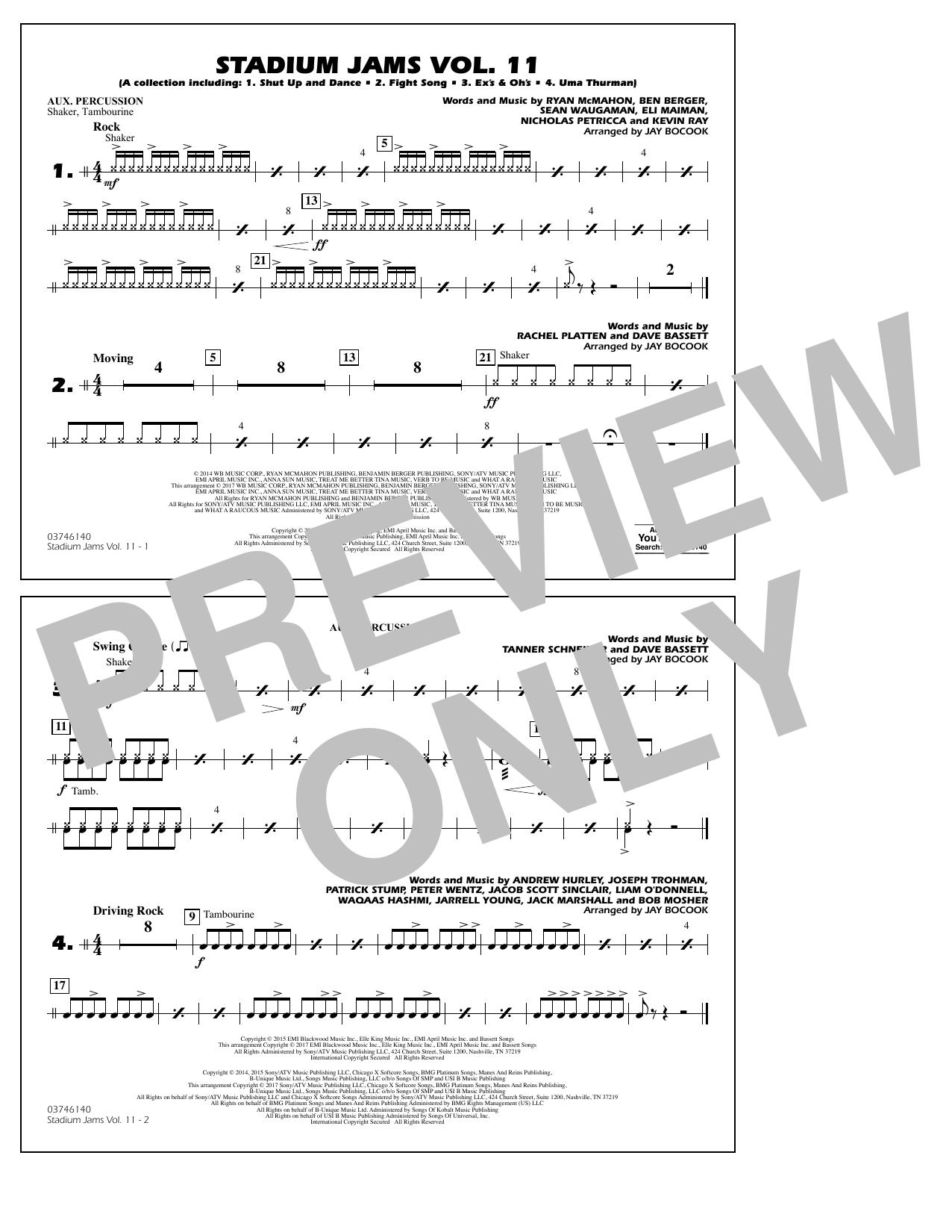 Stadium Jams Volume 11 - Aux Percussion Sheet Music
