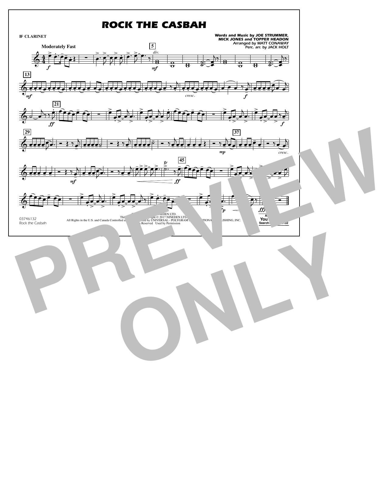 Rock the Casbah - Bb Clarinet Partituras Digitales