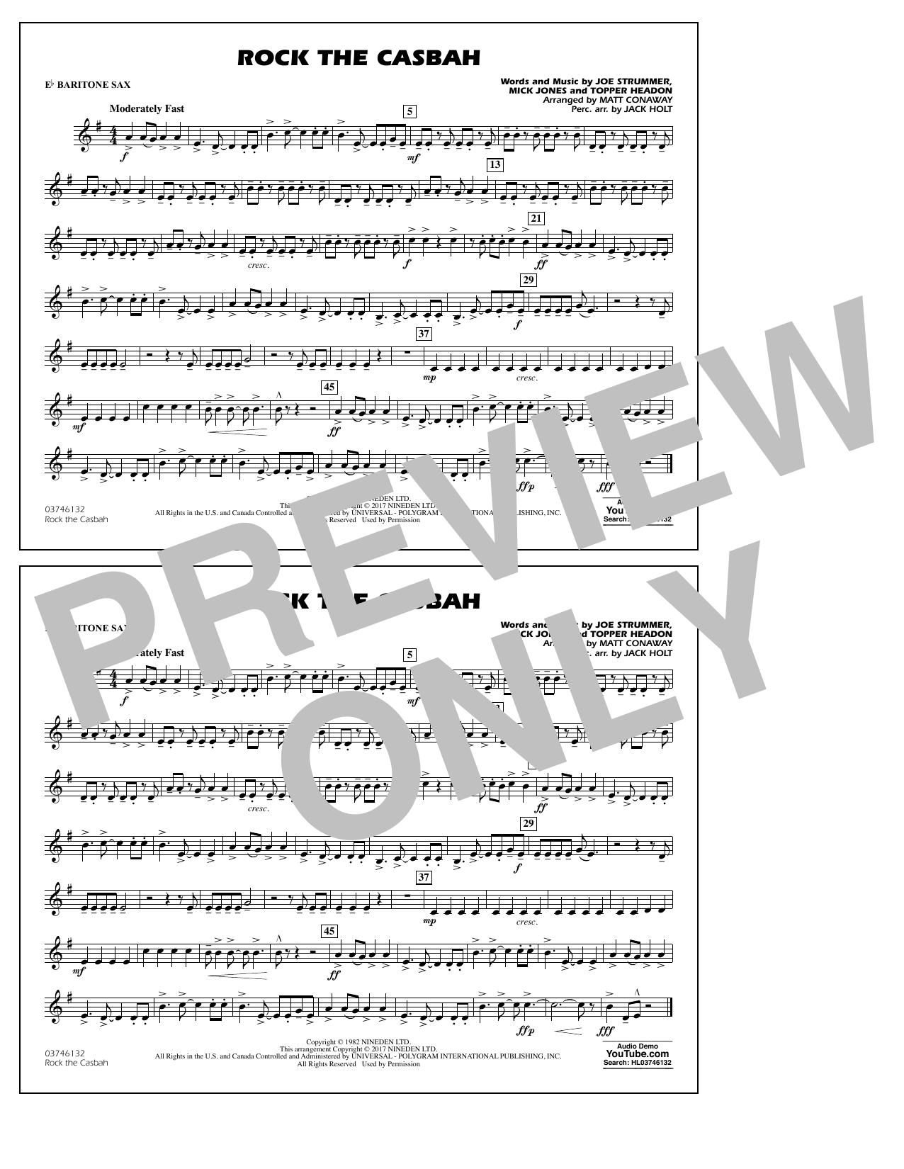 Rock the Casbah - Eb Baritone Sax Sheet Music
