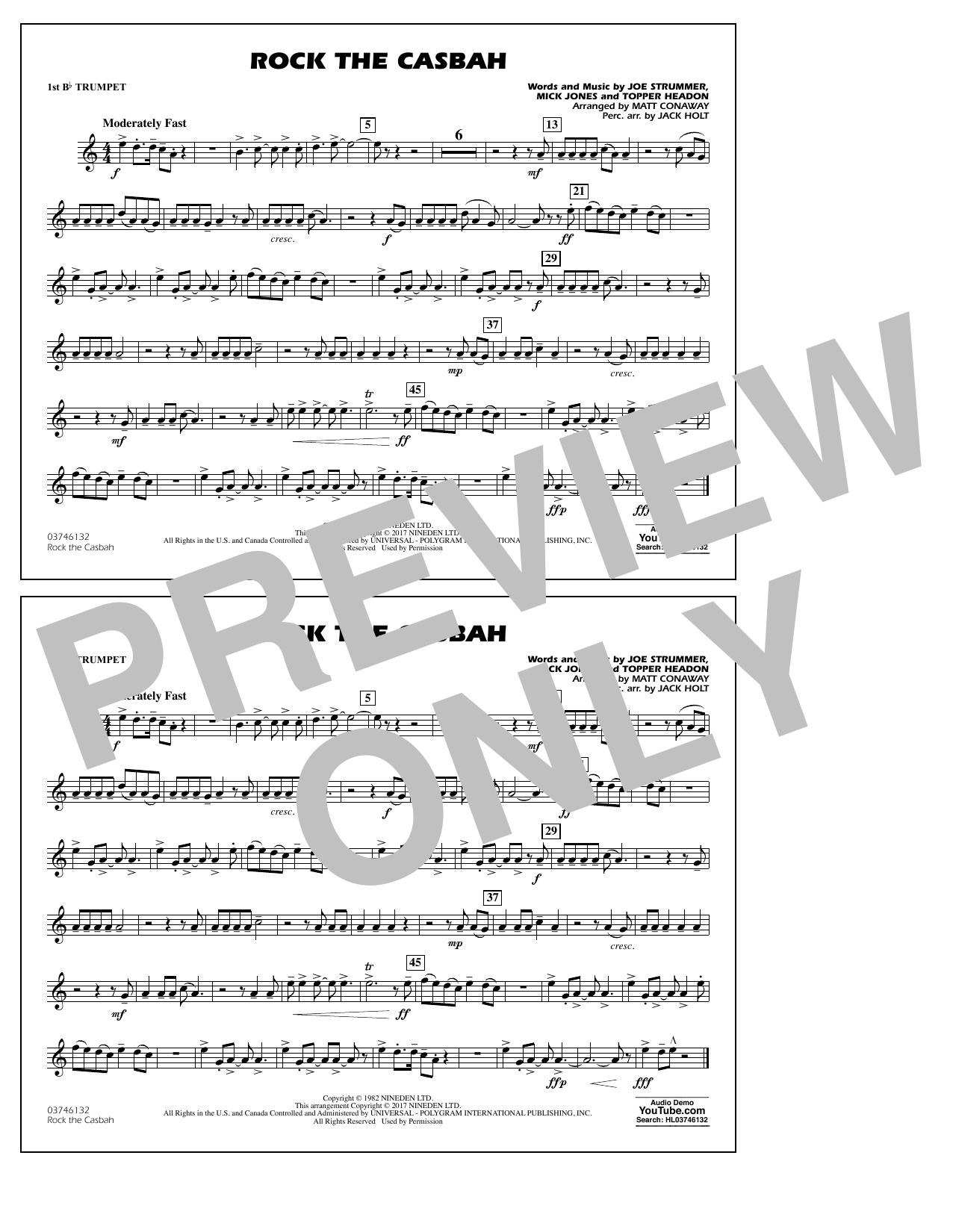 Rock the Casbah - 1st Bb Trumpet Partition Digitale