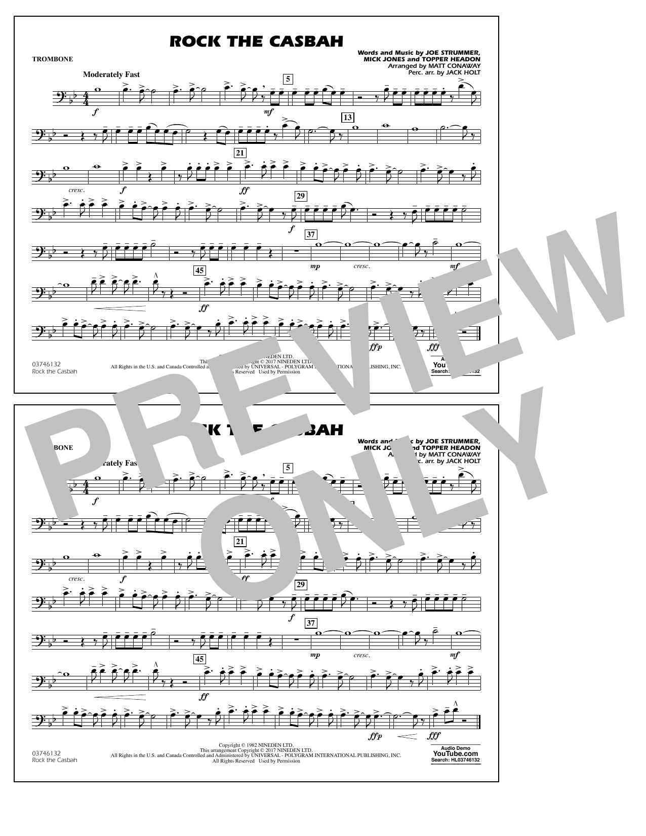 Rock the Casbah - Trombone Sheet Music