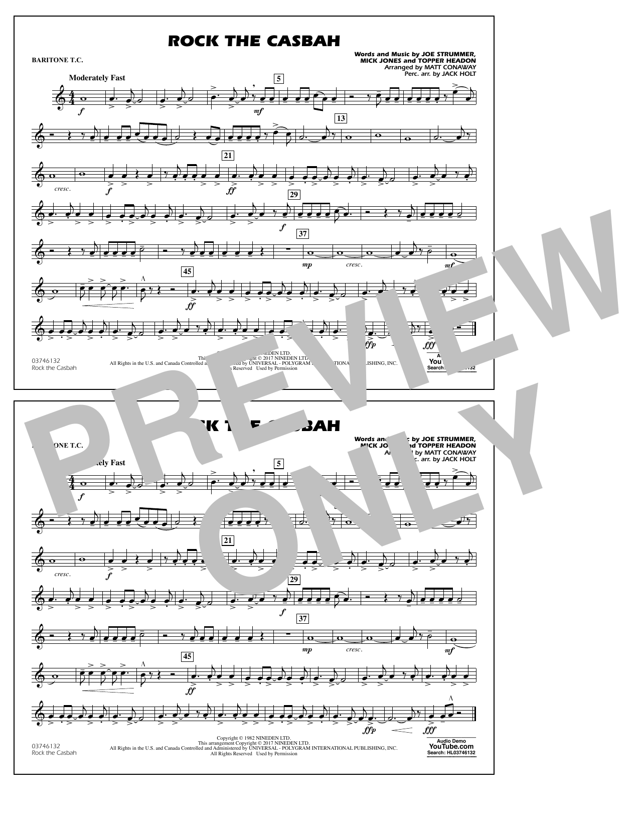 Rock the Casbah - Baritone T.C. Sheet Music