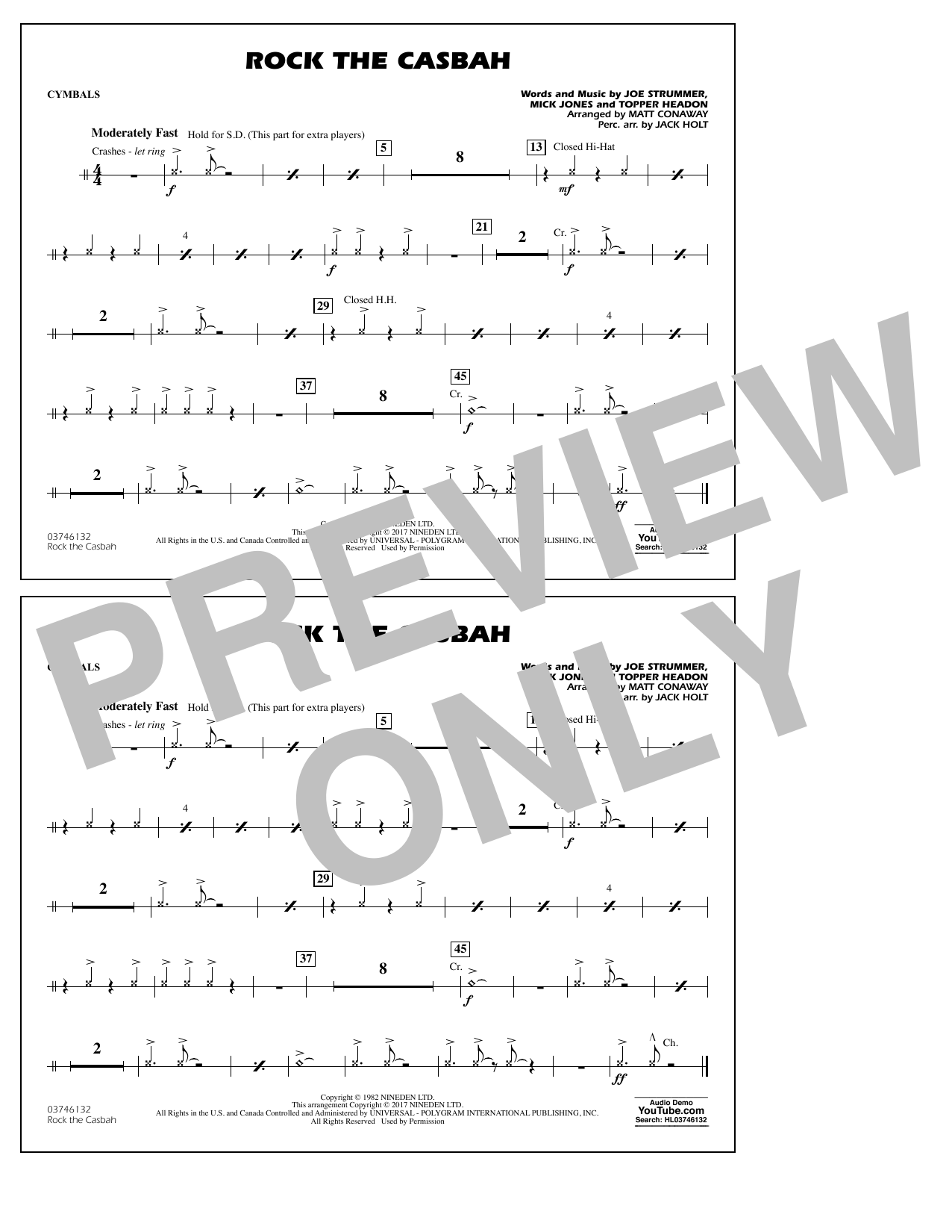 Rock the Casbah - Cymbals Sheet Music
