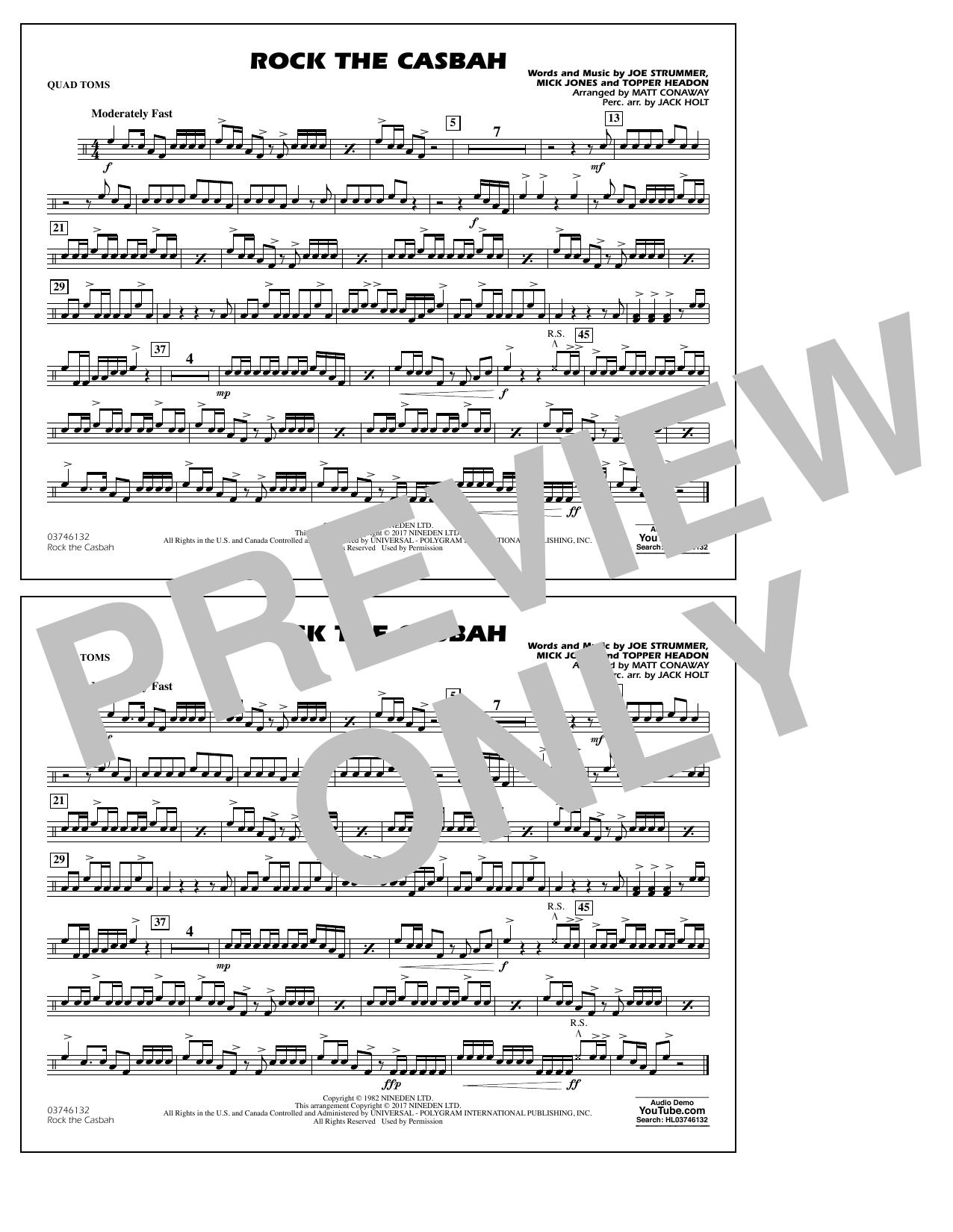 Rock the Casbah - Quad Toms Sheet Music