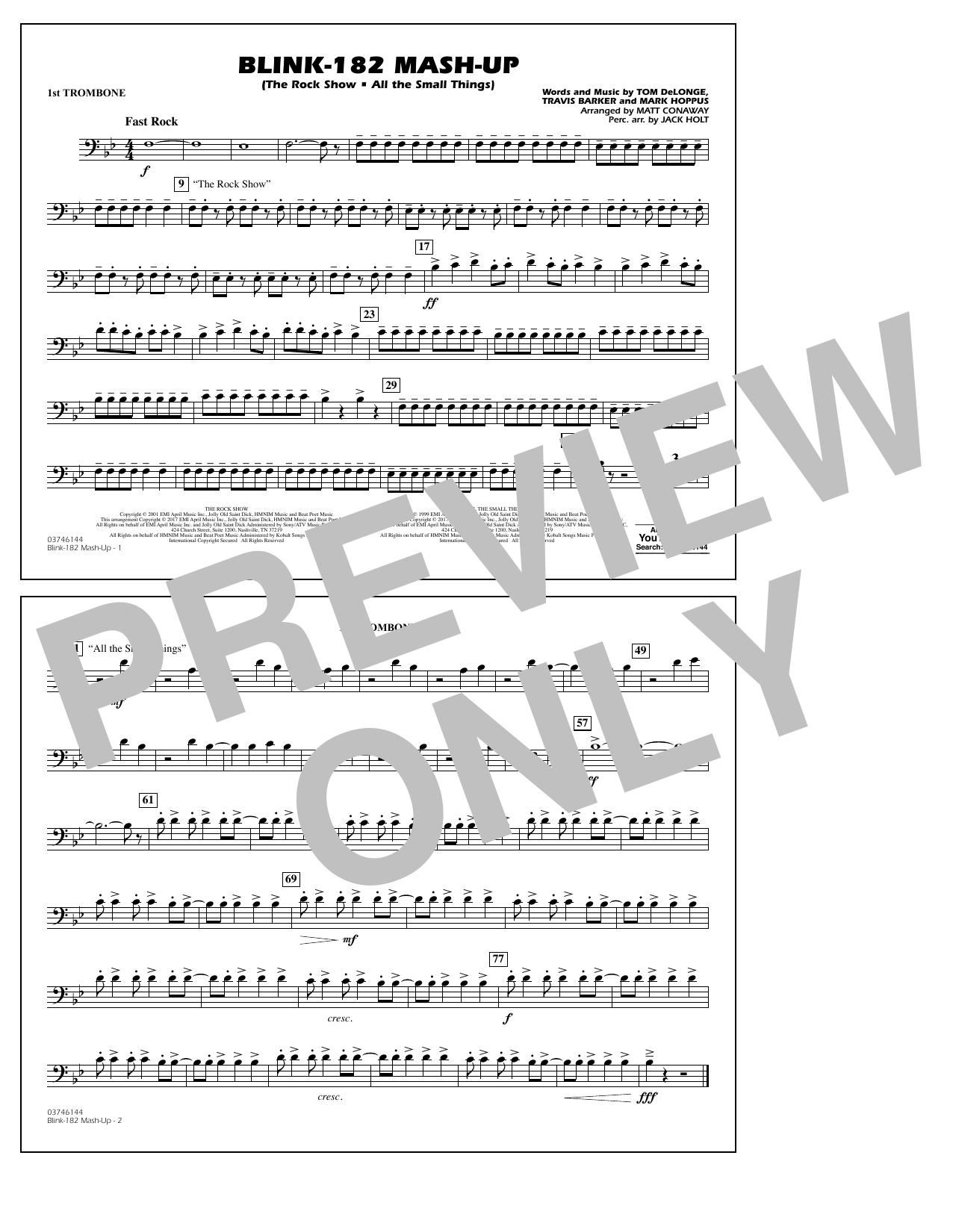 Blink-182 Mash-Up - 1st Trombone Sheet Music