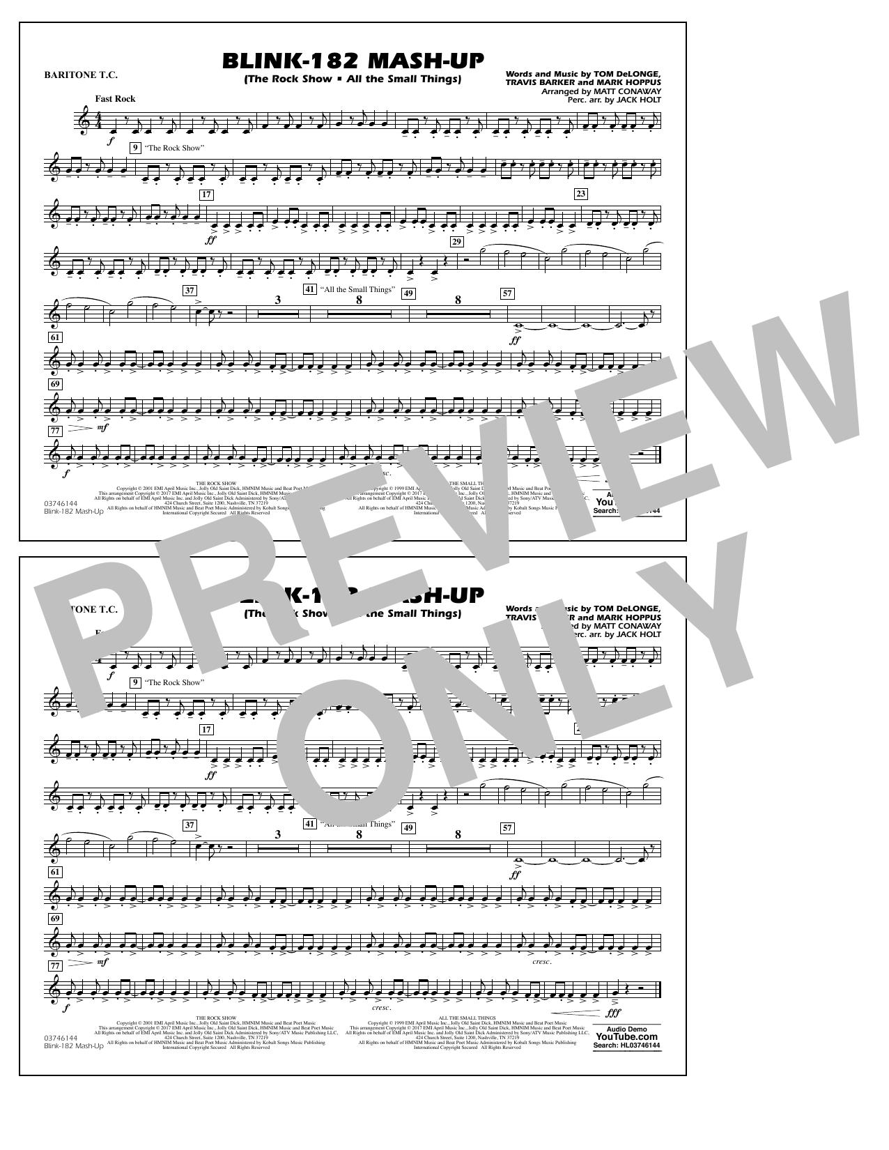 Blink-182 Mash-Up - Baritone T.C. Sheet Music