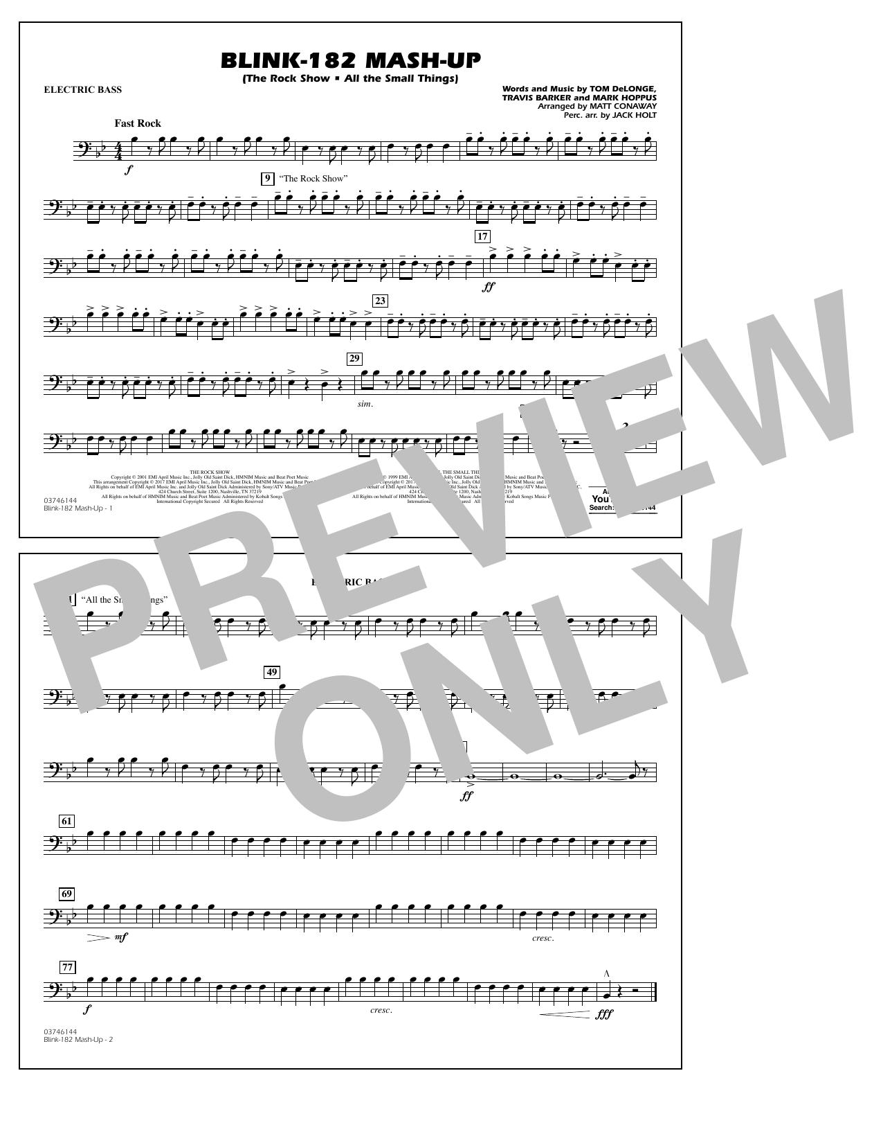Blink-182 Mash-Up - Electric Bass Sheet Music