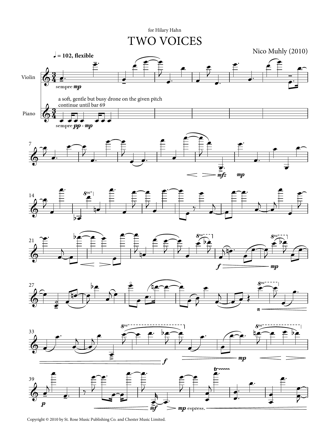 Two Voices Sheet Music