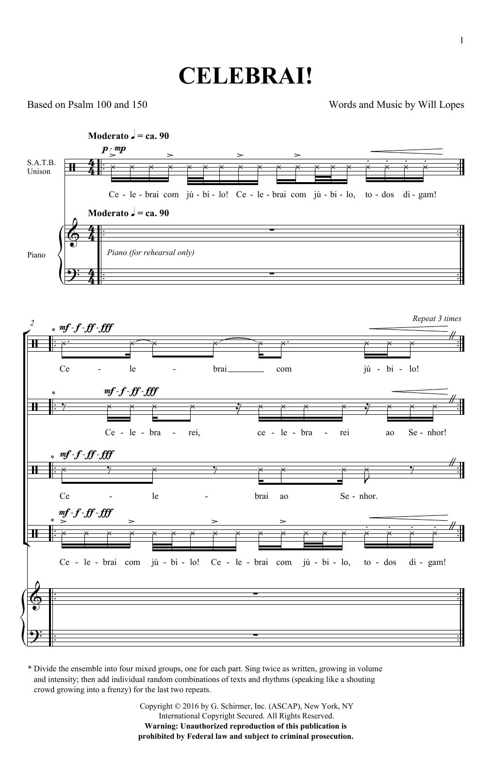Celebrai (SATB Choir)