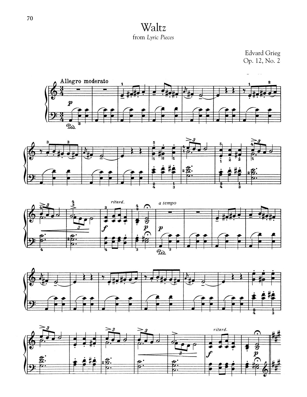 Waltz In A Minor, Op. 12, No. 2 (Piano Solo)