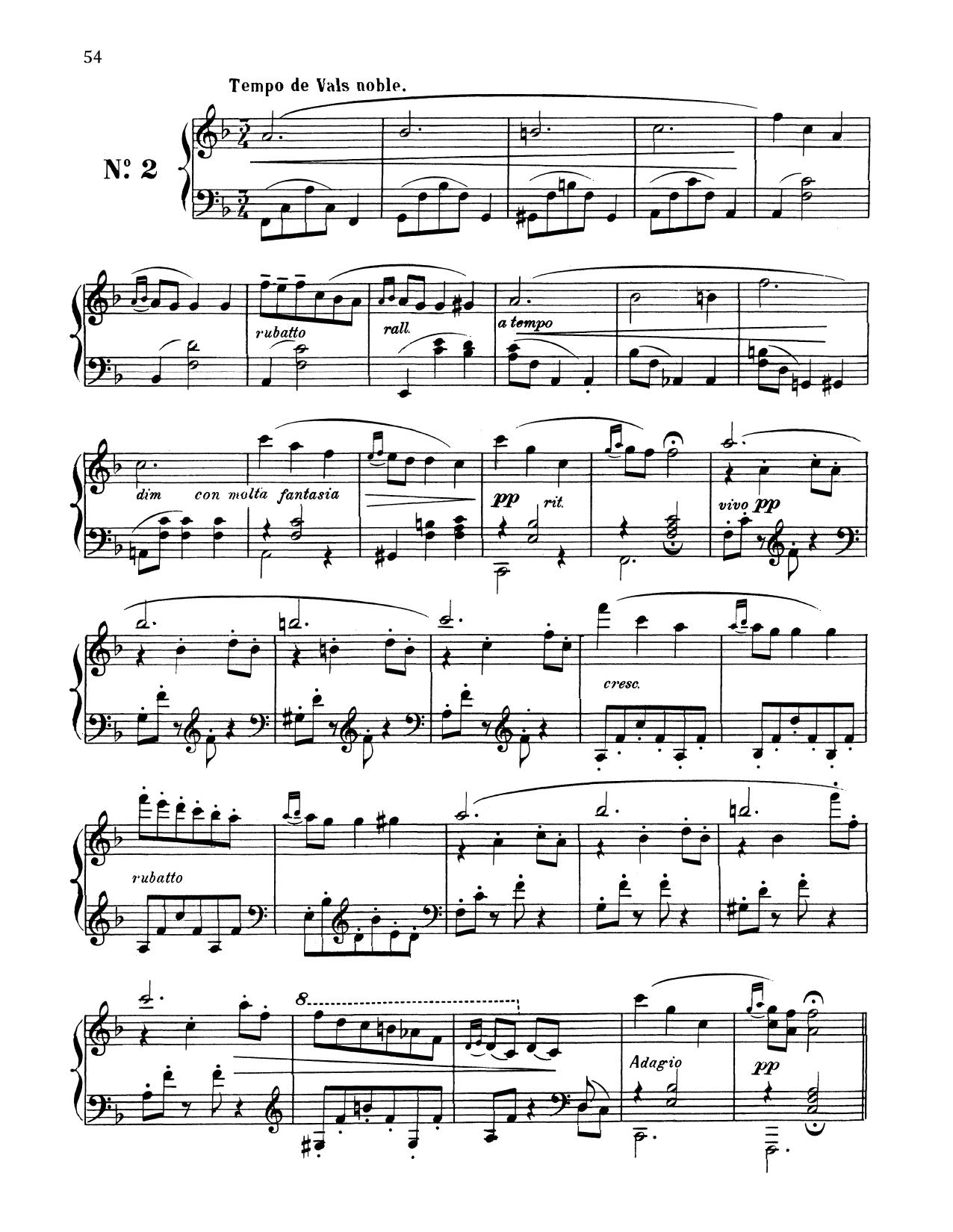 Tempo De Vals Noble (Piano Solo)