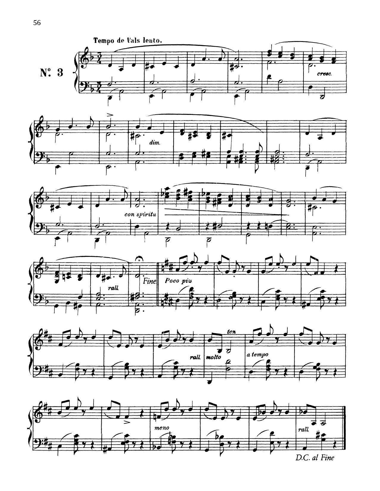 Tempo De Vals Lento (Piano Solo)