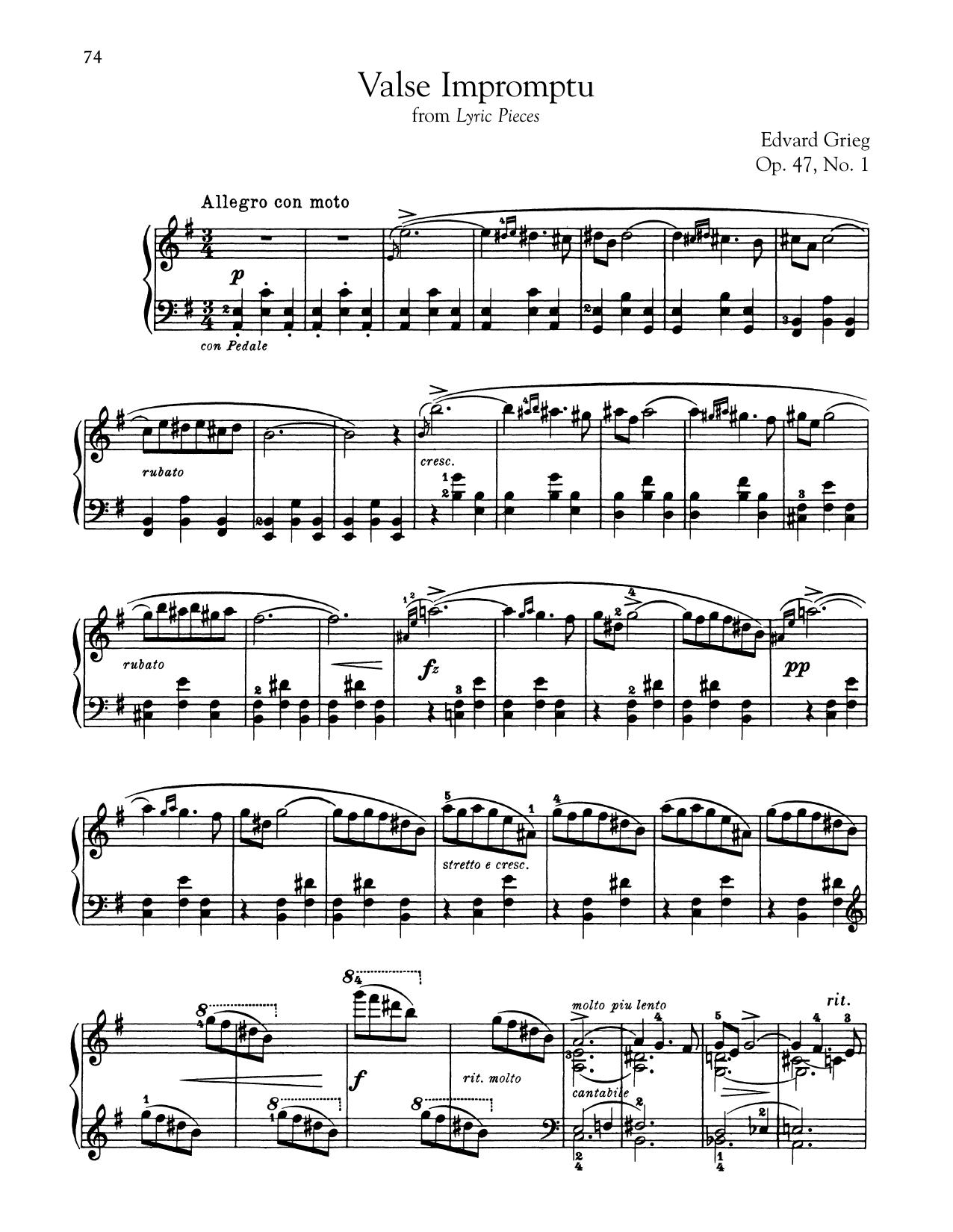 Valse Impromptu, Op. 47, No. 1 (Piano Solo)