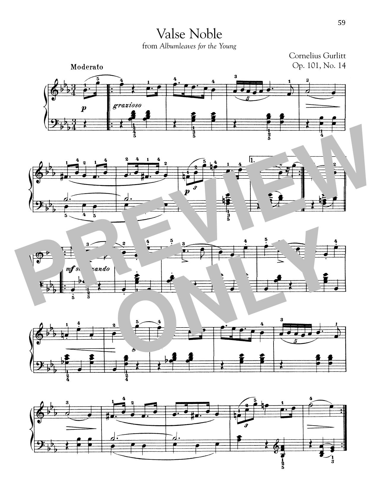Valse Noble, Op. 101, No. 14 (Piano Solo)