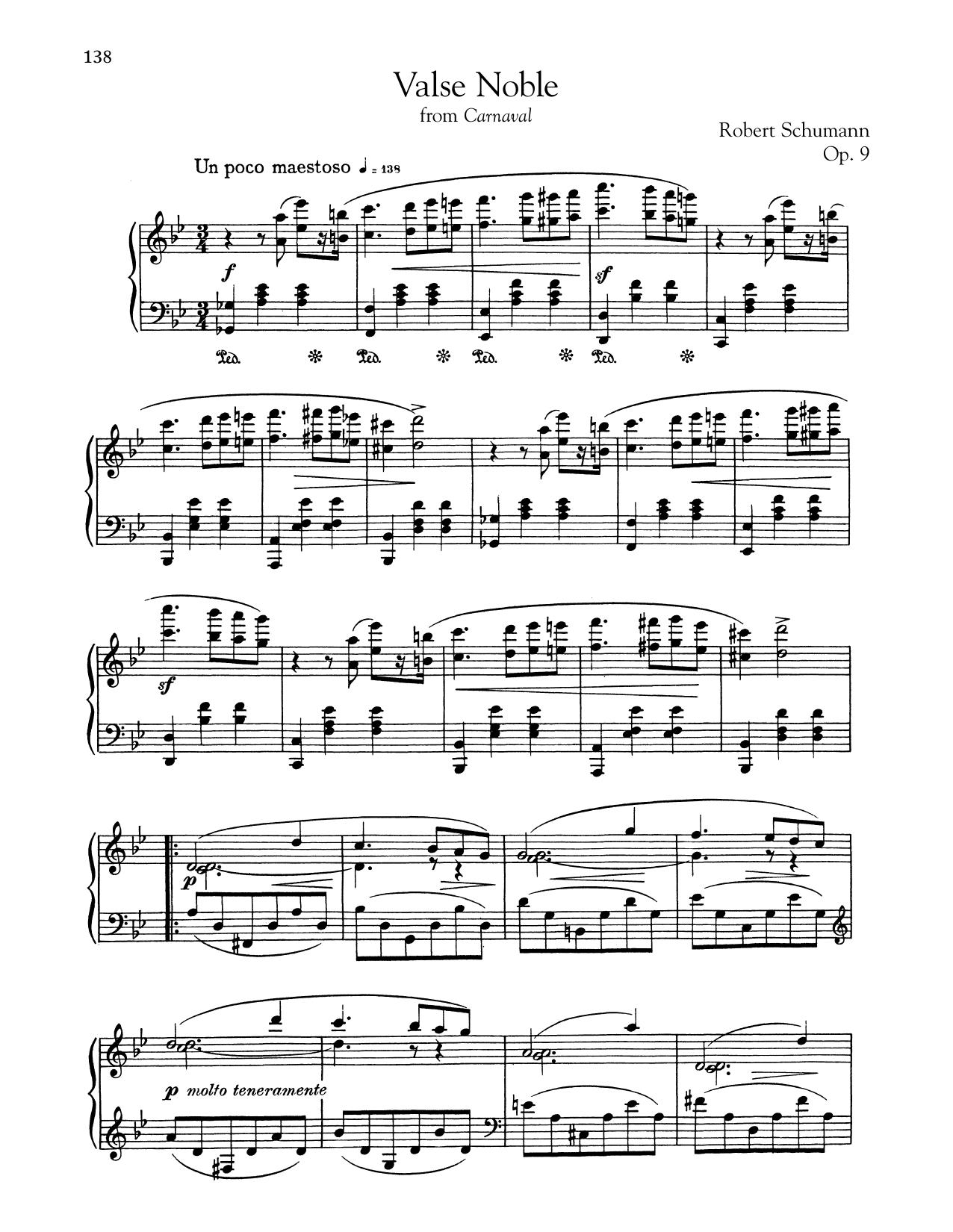 Valse Noble (Piano Solo)