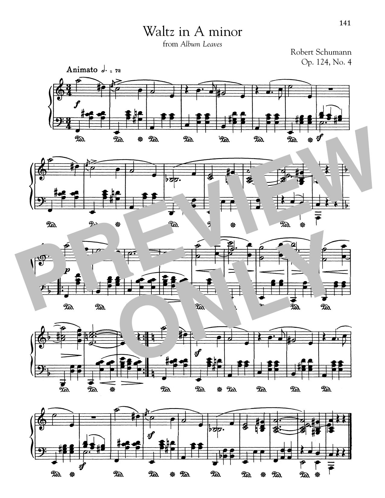 Waltz In A Minor (Piano Solo)